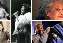 Ilustração fotográfica de seis mulheres (Ilustração fotográfica: Depto. de Estado/Imagens: © AP Images, © Getty Images, © Alamy)