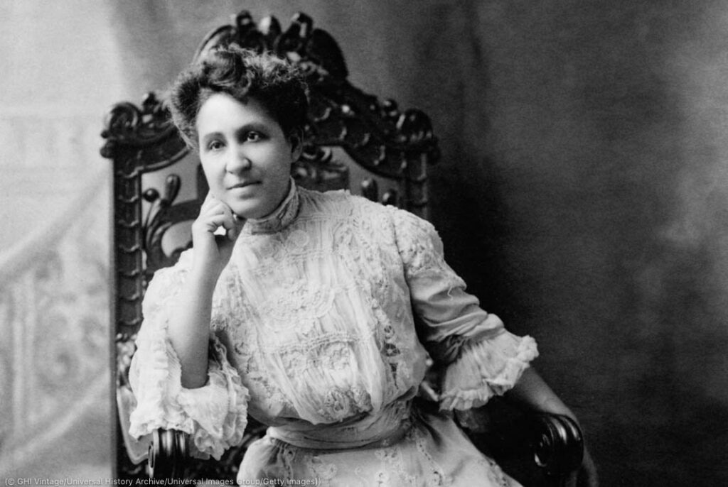 Mary Church Terrell sentada en una silla (© GHI Vintage/Universal History Archive/Universal Images Group/Getty Images)