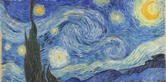 """Malam Berbintang"" karya Vincent van Gogh (© Art Images/Getty Images)"