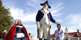 2011年位于弗吉尼亚的华盛顿故居庆祝华盛顿生日(照片:美联社)