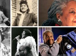 چھ عورتوں کی تصویروں کا مجموعہ (Photo illustration: State Dept./Images: © AP Images, © Getty Images, © Alamy)