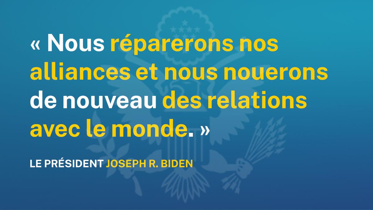 Citation de Joe Biden sur la réparation des alliances