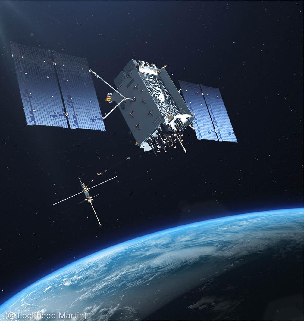 Satélite pairando sobre a Terra (© Lockheed Martin)