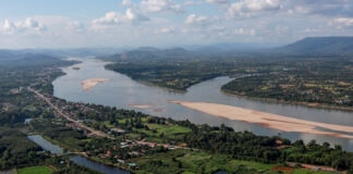 Aerial view of Mekong River (© Soe Zeya Tun/Mekong River Diplomacy/Reuters)