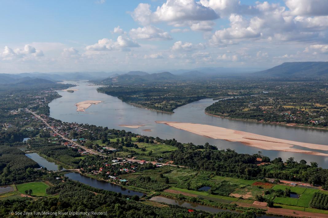 دریائے میکانگ کا فضائی منظر (© Soe Zeya Tun/Mekong River Diplomacy/Reuters)