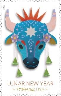 2021年牛年生肖票(照片:美国邮政总局)