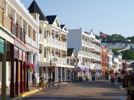 Buildings on Mackinac Island