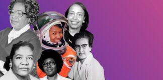 Fotocomposição de seis mulheres negras (Depto. de Estado)