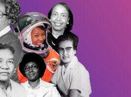 Composición fotográfica de seis mujeres afroestadounidenses (Depto. de Estado)