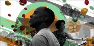 ছবির সামনের দিকে বারনেল কোটলন এবং পেছনের অংশে একজন নারী, কয়েকটি শিশু, দোকানের পণ্য ও ভবন নিয়ে ছবিমন্তাজ।আলোকচিত্র দিয়ে অলঙ্করণ: পররাষ্ট্র দপ্তর/ছবি: বাই ব্র্যান্ডস)