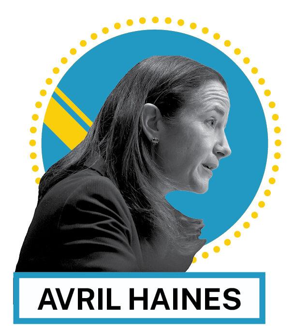 Portrait d'Avril Haines (© AP Images et Shutterstock)