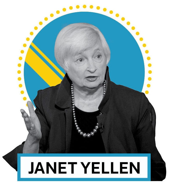 Janet Yellen (© AP Images and Shutterstock)