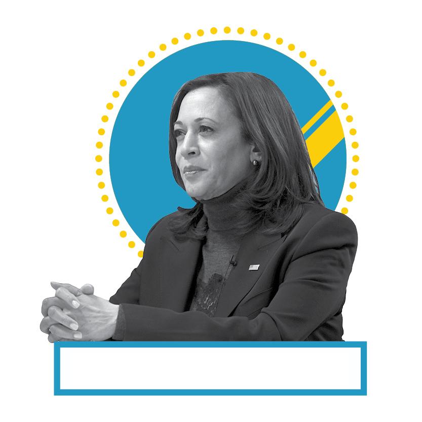 Vice President Kamala Harris (© AP Images and Shutterstock)