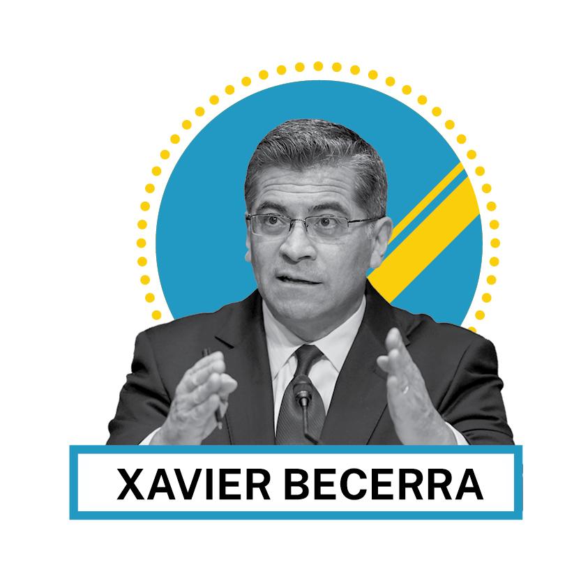 Portrait de Xavier Becerra (© AP Images and Shutterstock)