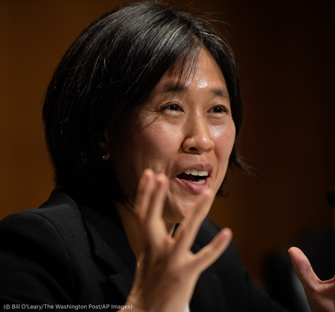 Кэтрин Тай говорит и жестикулирует (© Bill O'Leary/The Washington Post/AP Images)