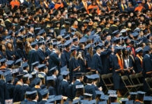 Large group of students in graduation garments (© Nicolaus Czarnecki/ZUMAPRESS.com/Alamy Live News)