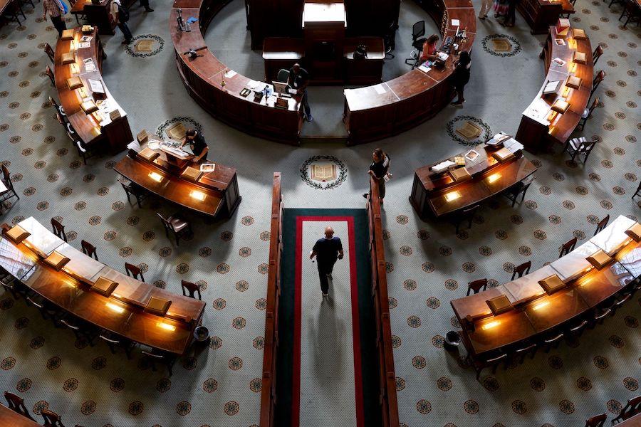 国会图书馆主阅览室鸟瞰图(国会图书馆)
