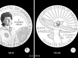 Diseños propuestos para monedas muestran a Sally Ride y a Maya Angelou (U.S. Mint)