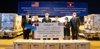 Os Estados Unidos entregam 1 milhão de doses da vacina contra a Covid-19 ao Laos em 16 de julho (Governo dos EUA)