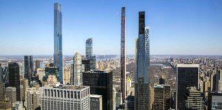 纽约市中央公园周边新建的豪华公寓大楼(照片:美联社)